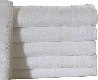 3 white cotton blend hotel bath towels 24x48 ringspun soft towels