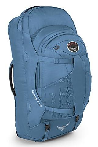 Osprey Packs Farpoint 55 Travel Backpack, Caribbean Blue, Small/Medium - Lash Point