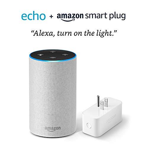 Echo (2nd Generation) with Amazon Smart Plug- Sandstone Fabric