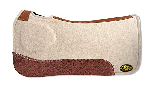 (Southwestern Equine OrthoRide Elite Premium Tan Topper and Chocolate Wool Bottom 1
