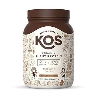 KOS Organic Plant Based Protein Powder – Raw Organic Vegan Protein Blend, 2.6 Pound, 30 Servings (Chocolate)