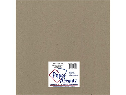 Accent Design Paper Accents ExtraHeavy NAT Chipboard 12x12 XL Heavy 32pt Natural ()
