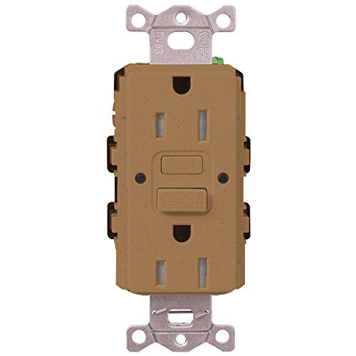 Lutron  SCR-20-GFST-TC  20-Amp  Tamper Resistant Self-Testing Receptacle, Terracotta -  Lutron Electronics Company, Inc.