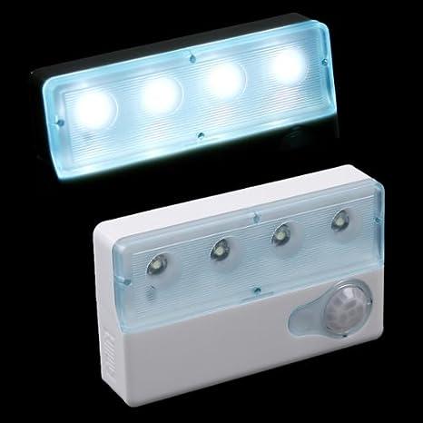 Andoer Luz LED Infrarrojos con PIR Sensor Automático Luz de Detector de movimiento (estilo cuadrado