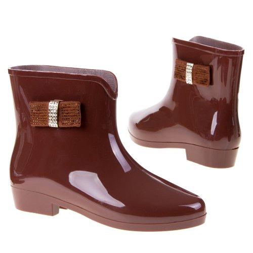 Ital Design marrón Botas mujer de marrón goma Antideslizantes vRRTwWar