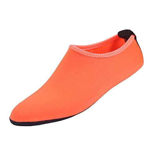 Scarpe Acqua Pelle Unisex Quick Dry Aqua Socks Scarpe A Piedi Nudi Per Beach Swin, Diving, Surf Yoga Exercise Orange