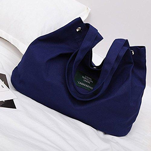 y Bandolera Bolsos Hombro Azul Shoppers Negro Mujer de Baratos ESAILQ Lona V Grande de Niña para wqzgz1pB