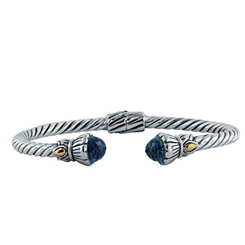 Robert Tulips - Bali RoManse by Robert Manse Designs Tulip Cable Bracelet (Blue Topaz)