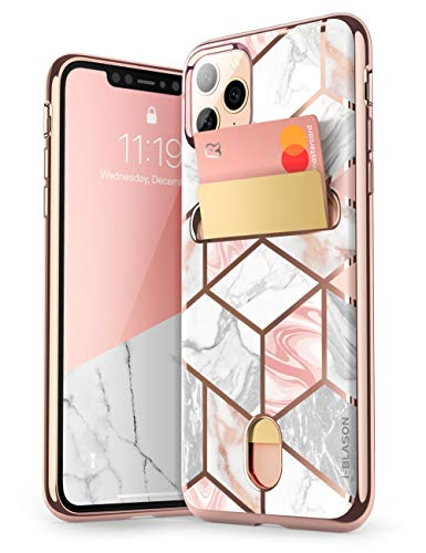i-Blason Cosmo Wallet Slim Designer Wallet Case for Apple iPhone 11 Pro (2019), 5.8 Inch (Marble) (Cute Iphone 5 Cases With Card Holder)