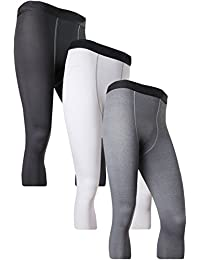 Men's 3/4 Compression Base Layer Tights Pants Running Leggings#1050