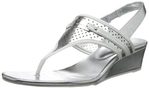 BCBGeneration Women's Jessie Gladiator Sandal,White/Silver,10 M US