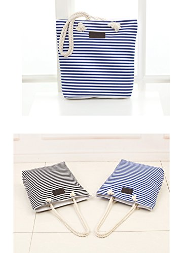 Morhua Shoulder Tote Bag Handbag, Stripe Canvas Shoulder Bag