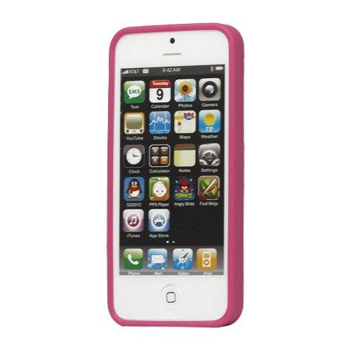 jbTec® TPU-Case / Hülle zu Apple iPhone 5S / 5 / SE - DOT Deep Pink - Schutzhülle, Backcover
