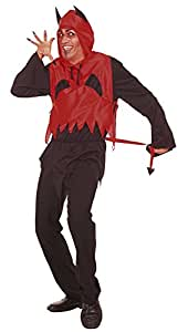 Cesar - Disfraz de diablo con cuernos y cola para hombre (adulto)