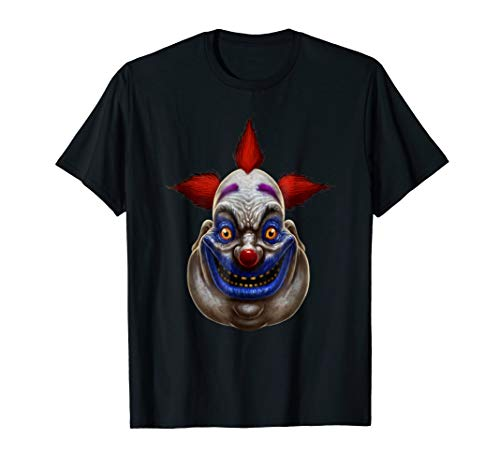 Creepy Scary Clown T-Shirt Horror Halloween -