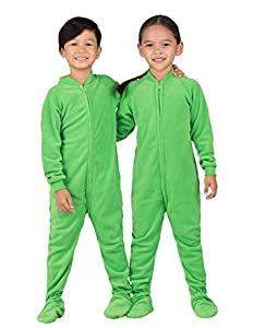Footed Pajamas - Emerald Green Toddler Fleece