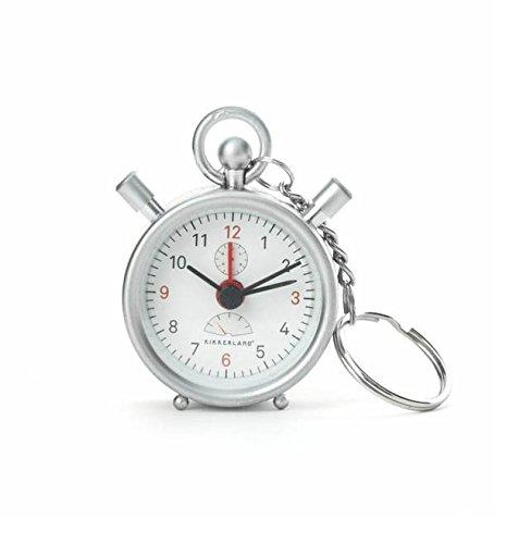 Kikkerland Mini Stopwatch Alarm Clock (Keychain Clock Alarm)