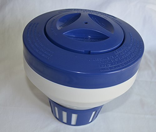 Swimming Pool/Spa Floating Chlorine/Chemical Dispenser, Holds up to Six 3