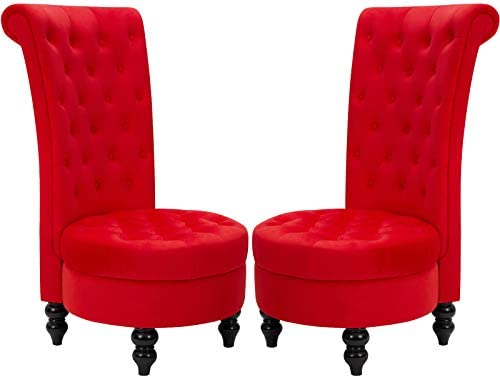 ECOTOUGE Retro High Back Armless Chairs