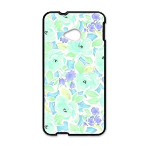 Creative Blue Flower Cell Phone Case For HTC M7
