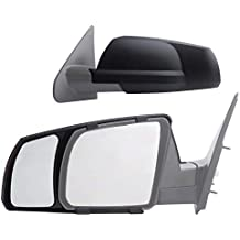 K Source Fit System 81300 Snap-on Black Towing Mirror for Toyota Tundra/Sequoia - Pair (Renewed)
