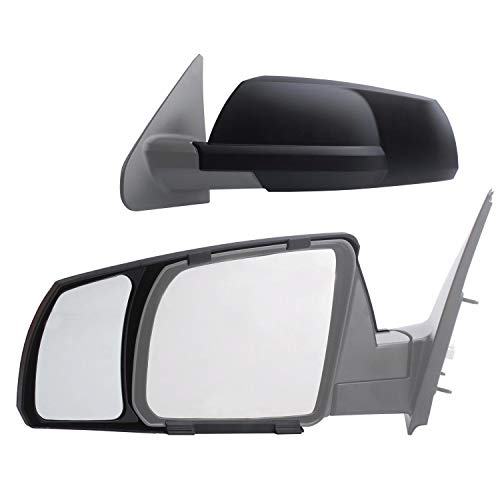 K Source Fit System 81300 Snap-on Black Towing Mirror for Toyota Tundra/Sequoia - Pair (Renewed) ()