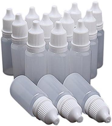 Leisial 50pcs Plástico Botella de Gotas para Ojos Transparente ...