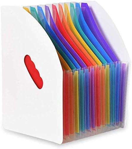 Camisin Erweitern Des Ordners für Dateihalter Stehend A4 Vertical File Organizer Magazine Korb Desktop 13 Taschen File Halter