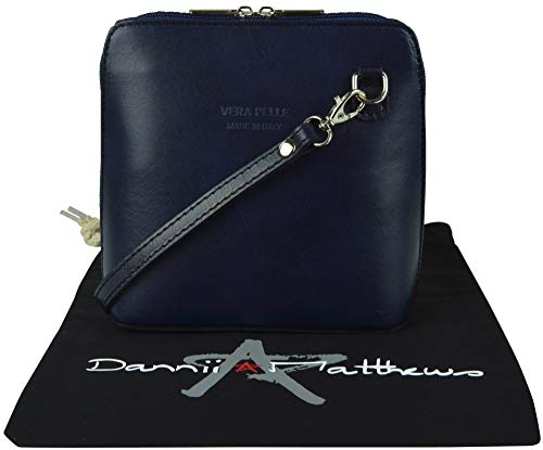 Cross A Body Bag Shoulder Leather Protective Hand Made Small Branded Includes Handbag Italian Storage Navy wxXHqIFzz