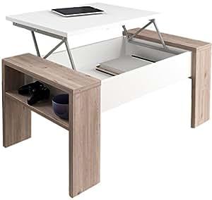Studio decor andrea mesa de centro elevable madera for Mesa elevable amazon