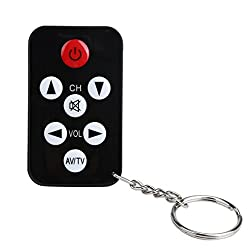 Clearance ! ღ Ninasill ღ Exclusive TV Mini Keychain Universal Remote Control for Philips Sony Panasonic Toshiba LO (Black)