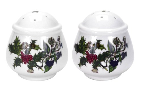 Portmeirion Holly and Ivy Salt and Pepper Set