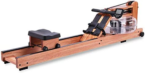 BATTIFE Water Rowing Machine with Monitor for Home Gyms Fitness Indoor Use, Red Walnut Wood