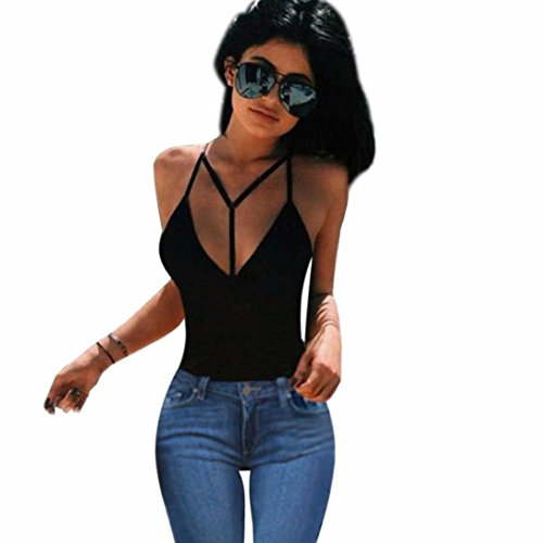 Beautiful Women Bra Crop Bustier Corset Tops Bandage Tank Top Blouse T-Shirt (XL, Black) (Beautiful Bustier)