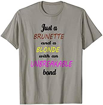 169cf971c Amazon.com: Besties Blonde and Brunette T-Shirt Friendship BFF Sisters:  Clothing