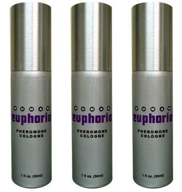 Human Pheromone Cologne Euphoria - 3 Bouteilles - attirer les femmes instantanément