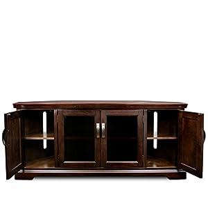 """Leick 81386 Chocolate Cherry Corner TV Stand, 60"""""""
