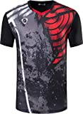 Jeansian Boy's Quick Dry Active Sport Short Sleeve Breathable T-Shirts Tees Tops LBS713 Black S