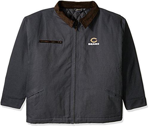 NFL Chicago Bears Tradesmanキャンバスキルト裏地付きジャケット、ネイビー、XXLサイズ