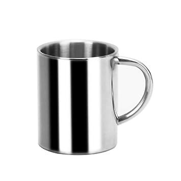 Collectsound - Taza de café de acero inoxidable con ...