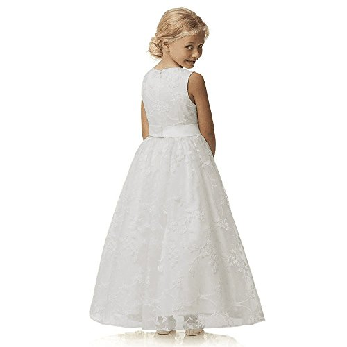 A line wedding pageant lace flower girl dress with belt 2 for 10 year old dresses for weddings