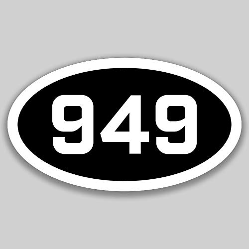 DHDM 949 Area Code Sticker California Irvine Aliso Viejo Costa Mesa City Pride Love | 5-Inches by 3-Inches | Premium Quality Vinyl UV Resistant Laminate PD2417
