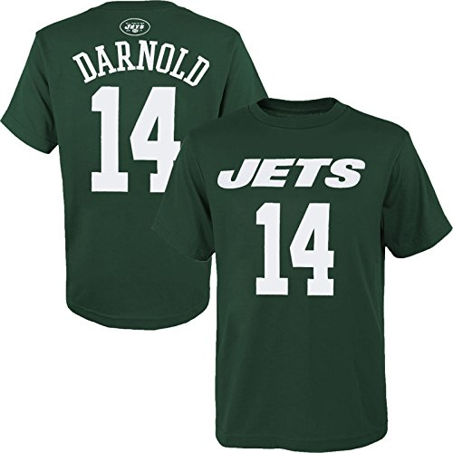 - OuterStuff Sam Darnold New York Jets #14 Youth Name & Number Player T-Shirt (Medium 10/12)