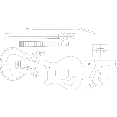 Guitar Template: Amazon.com