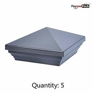 myard sin agujeros universal 4X 4y 4,5x 4,5(nominal) Pyramid Postes Top Cap (5unidades, 5, peltre) Tamaño: QTY 5Color: Peltre, Modelo:, herramientas y hardware Store