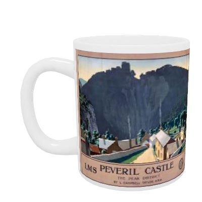 Peveril Castle - White Mug (11oz ()