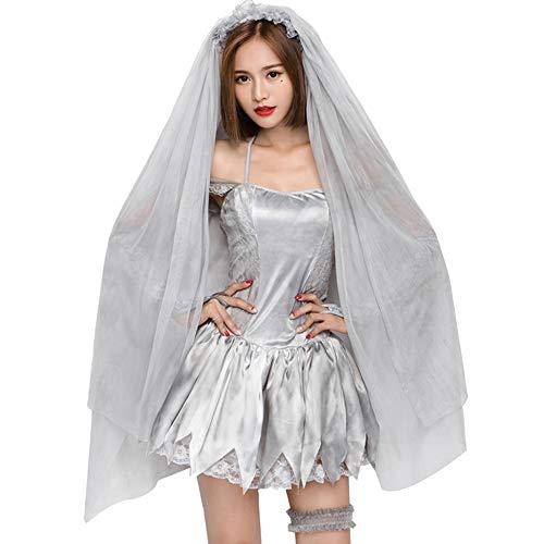 YOMORIO Ghost Bride Costume Vampire Wedding Fancy Dress