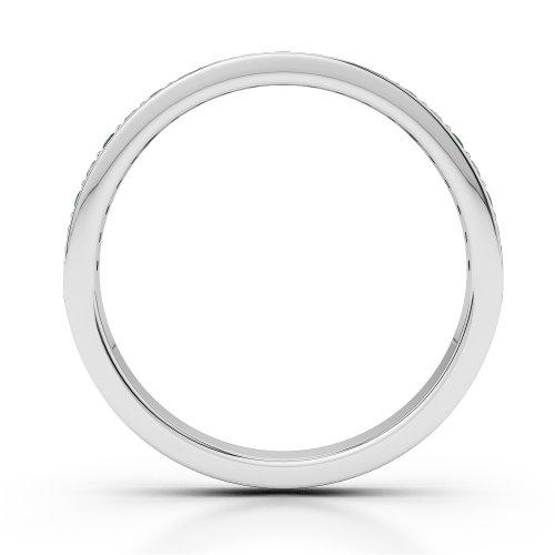 Or blanc 18carats 0,20CT G-H/VS Certifié Coupe ronde Émeraude et diamants Agdr-1082