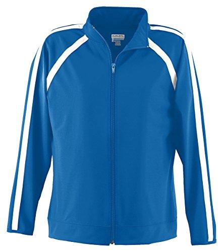 Augusta Sportswear WOMEN'S POLY/SPANDEX JACKET XL Royal/White
