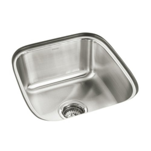 - STERLING 11448-NA Springdale 16-inch by 17-1/2-inch Under-mount Single Bowl Bar Sink, Stainless Steel